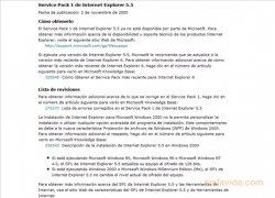 Internet Explorer 5.5 SP1  (Service Pack 1) Español imagen 2