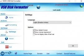 KORO USB Disk Formatter imagen 2 Thumbnail