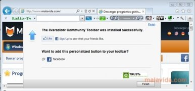 Live-RadioTV Toolbar imagen 2 Thumbnail