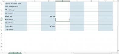 Registro de serviço do veículo Excel imagem 2 Thumbnail