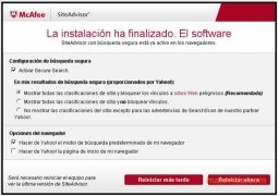 McAfee Site Advisor Firefox immagine 1 Thumbnail