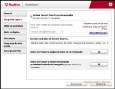 McAfee Site Advisor Internet Explorer Изображение 2 Thumbnail