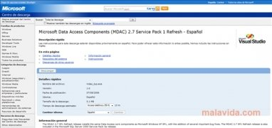 MDAC 2.7 SP1 imagen 2 Thumbnail