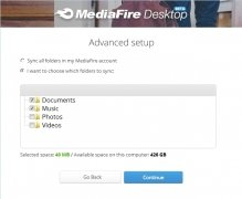 MediaFire Desktop immagine 3 Thumbnail
