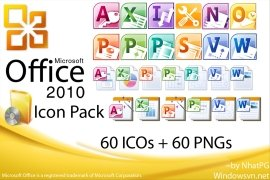 Microsoft Office 2010 IconPack imagen 1 Thumbnail