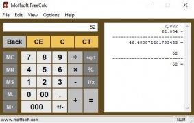 Moffsoft FreeCalc imagen 1 Thumbnail