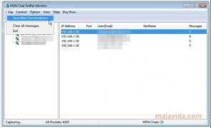 MSN Chat Sniffer Monitor imagen 5 Thumbnail