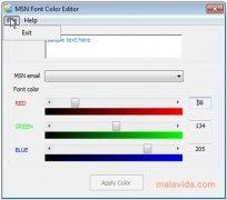 MSN Font Color Editor immagine 1 Thumbnail
