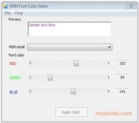 MSN Font Color Editor immagine 2 Thumbnail