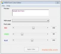 MSN Font Color Editor immagine 2 Thumbnail
