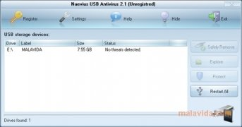 Naevius USB Antivirus Изображение 3 Thumbnail
