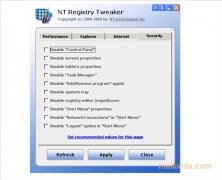 NT Registry Tweaker imagen 2 Thumbnail