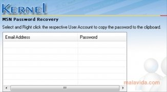 Nucleus Kernel Hotmail MSN Password Recovery imagen 2 Thumbnail