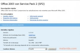 Office 2003 SP2 Service Pack 2 - Download for PC Free