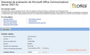 Office Communications Server 2007  6970.0 Español imagen 2