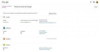Panel de control de Google imagen 1 Thumbnail