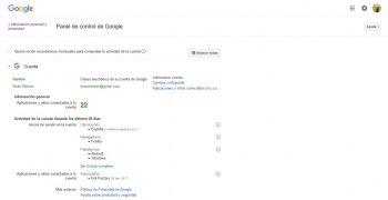 Panel de control de Google imagen 2 Thumbnail