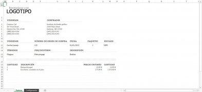 Plantillas Facturación Excel imagen 2 Thumbnail
