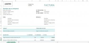 Plantillas Facturación Excel imagen 3 Thumbnail