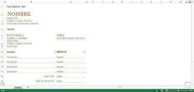Plantillas Facturación Excel imagen 5 Thumbnail