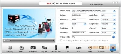Plato FLV to Video Audio Converter image 4 Thumbnail