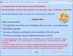 Power MP4 iPod PSP 3GP AVI MPG WMV Video Converter imagem 4 Thumbnail