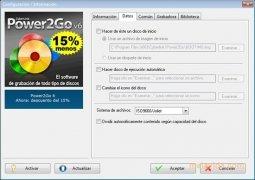 Power2Go  7.0.0.1001 Español imagen 2