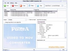 Puma Video To MOV Converter imagen 2 Thumbnail