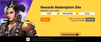 Rewards FF Garena imagen 1 Thumbnail