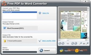SmartSoft Free PDF to Word Converter Изображение 1 Thumbnail