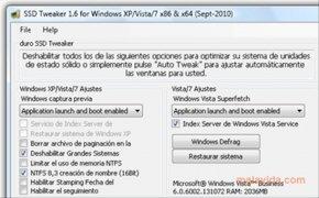 SSD Tweaker imagen 2 Thumbnail
