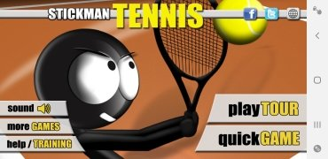 Stickman Tennis imagem 1 Thumbnail