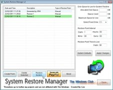 System Restore Manager bild 1 Thumbnail