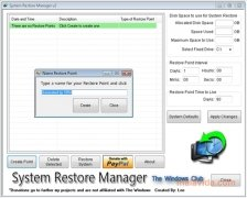 System Restore Manager bild 2 Thumbnail