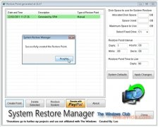 System Restore Manager bild 3 Thumbnail
