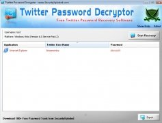 Twitter Password Decryptor immagine 2 Thumbnail