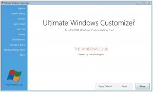Ultimate Windows Customizer immagine 2 Thumbnail