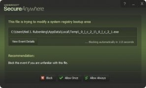 Webroot SecureAnywhere AntiVirus imagen 6 Thumbnail
