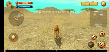 Wild Cheetah Sim 3D imagen 5 Thumbnail