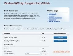 Windows 2000 High Encryption Pack imagen 2 Thumbnail