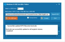 Windows 8 USB Installer Maker imagen 3 Thumbnail