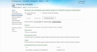 Windows Live Family Safety imagem 4 Thumbnail