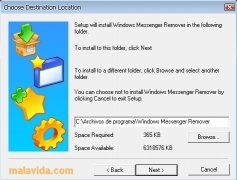 Windows Messenger Remover Изображение 1 Thumbnail