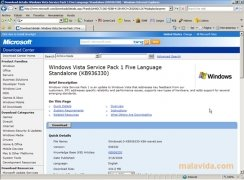 Windows Vista SP1 imagen 1 Thumbnail
