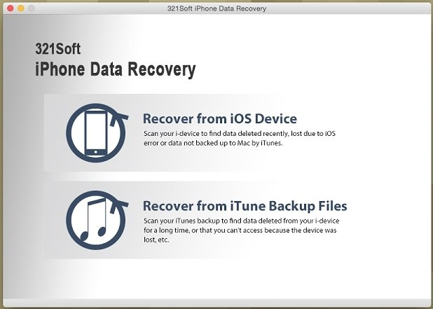 321Soft iPhone Data Recovery Mac image 2