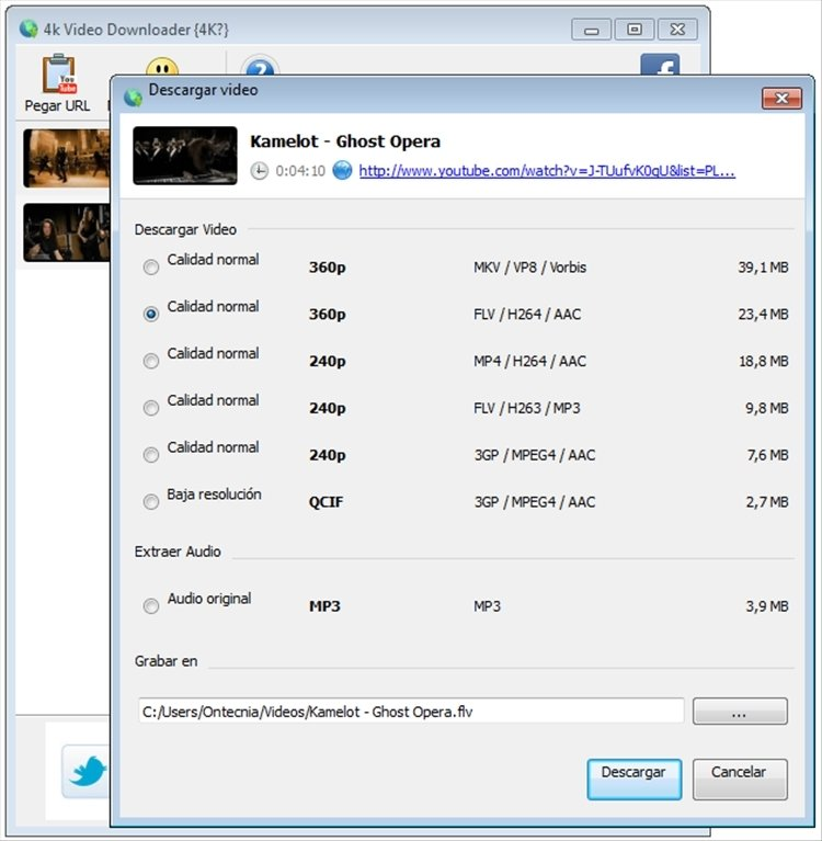 descargar 4k video downloader