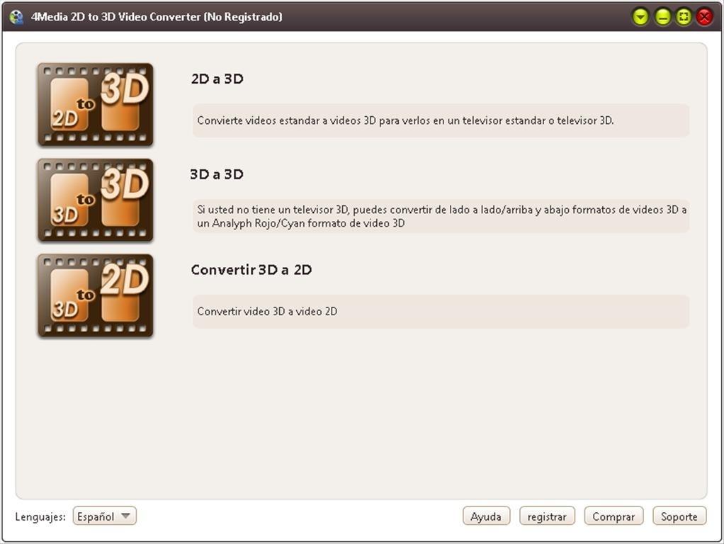 Free 3d video converter: convert any video/dvd to 3d.