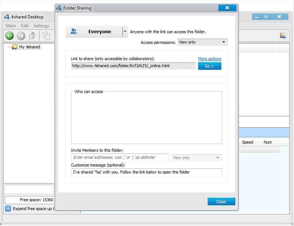 4shared Desktop 4.0.11 - Download for PC Free