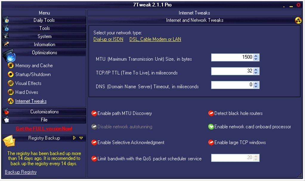 New] 7Tweak Pro 1 2 1 - Windows 7 tested | apnawalkay1972