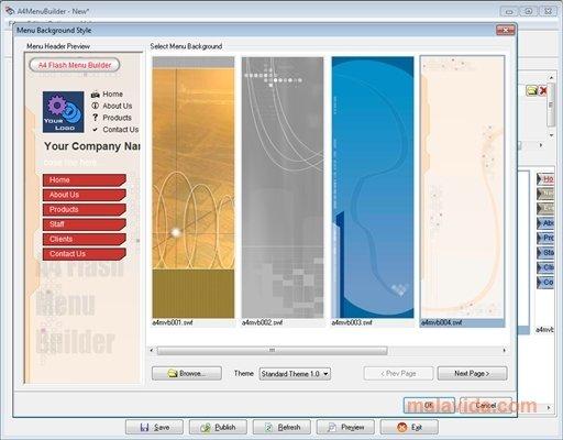 A4 Flash Menu Builder image 4